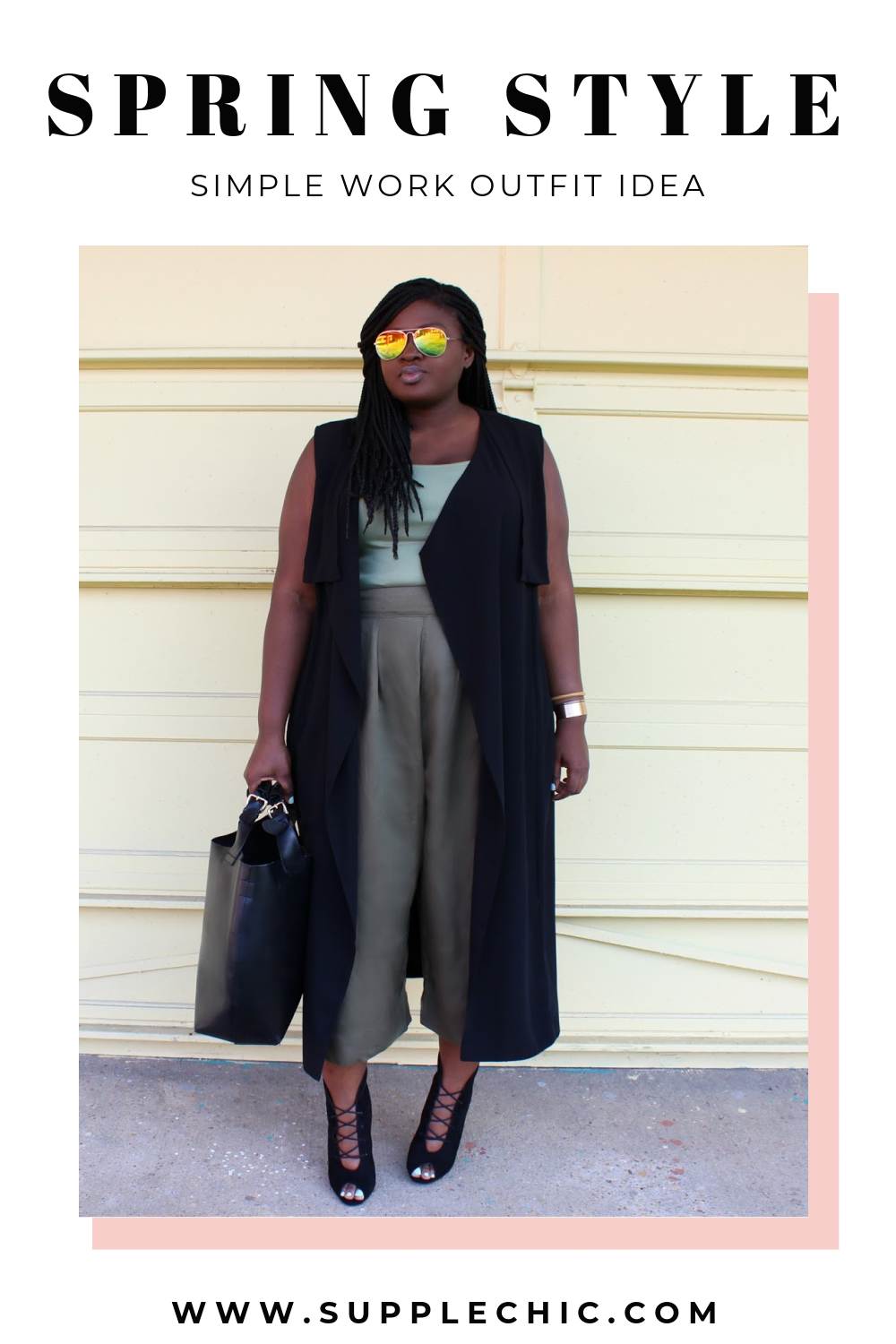 spring work outfit idea from supplechic a fashion and lifestyle blog based out of Baltimore