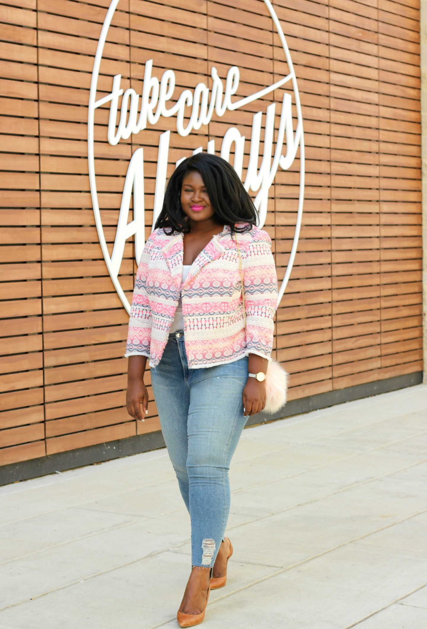 A Polished yet easy PINK Outfit to wear Now