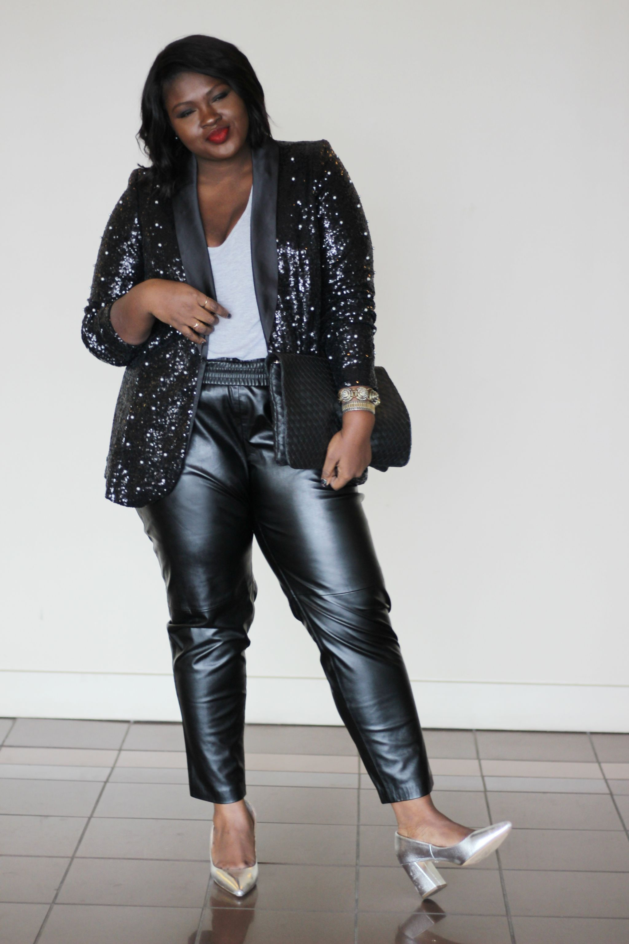 sequin and pearl blazer how to style embellished pieces