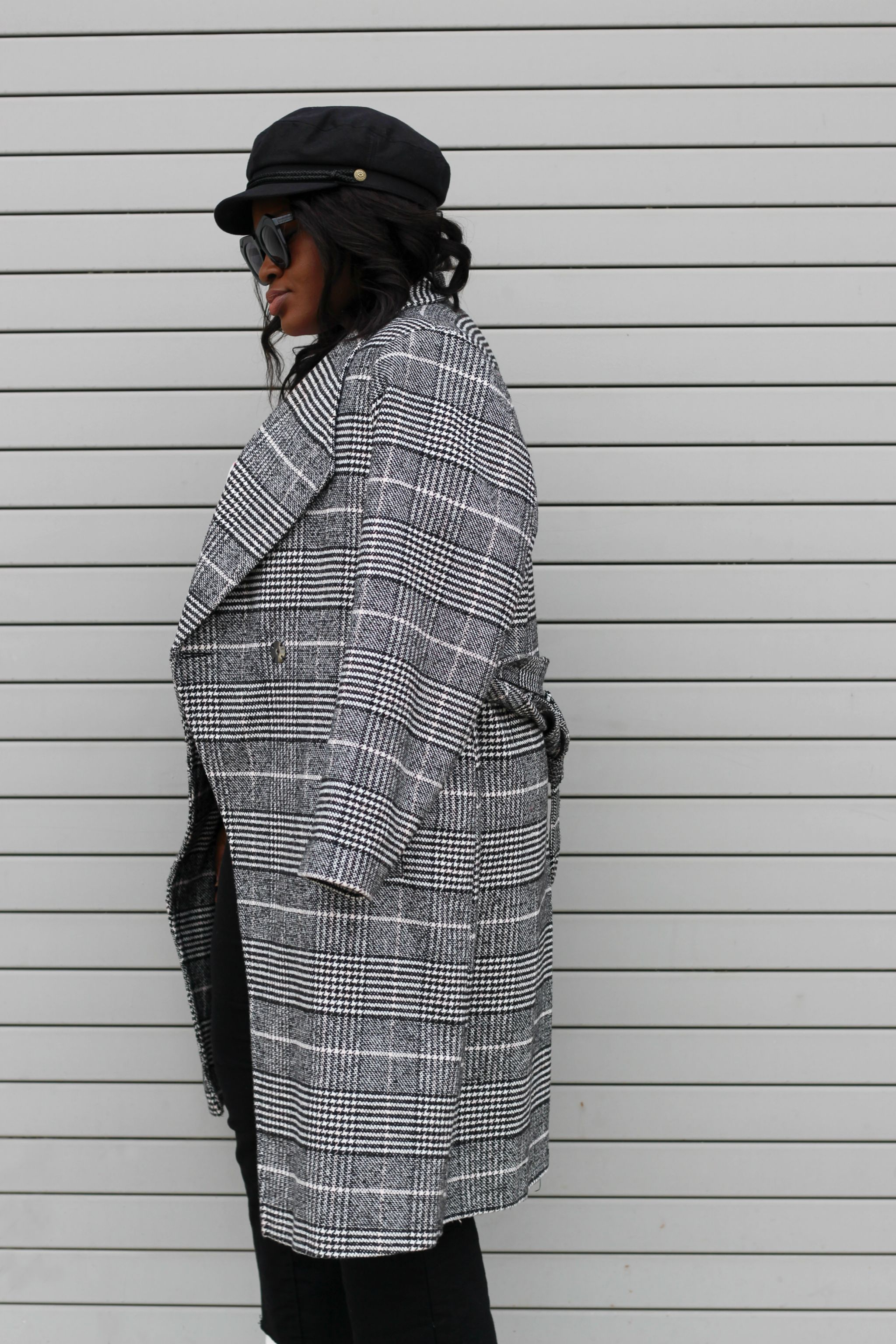 v day post plaid coat j amme