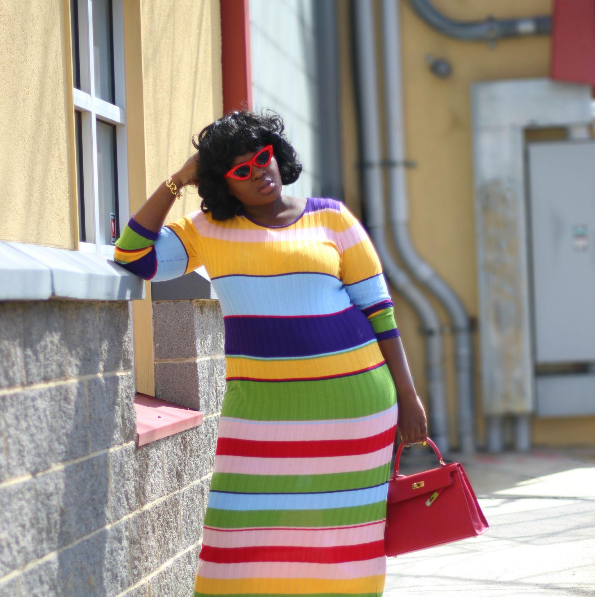 WORLD OF COLOR STRIPE fashion nova curve