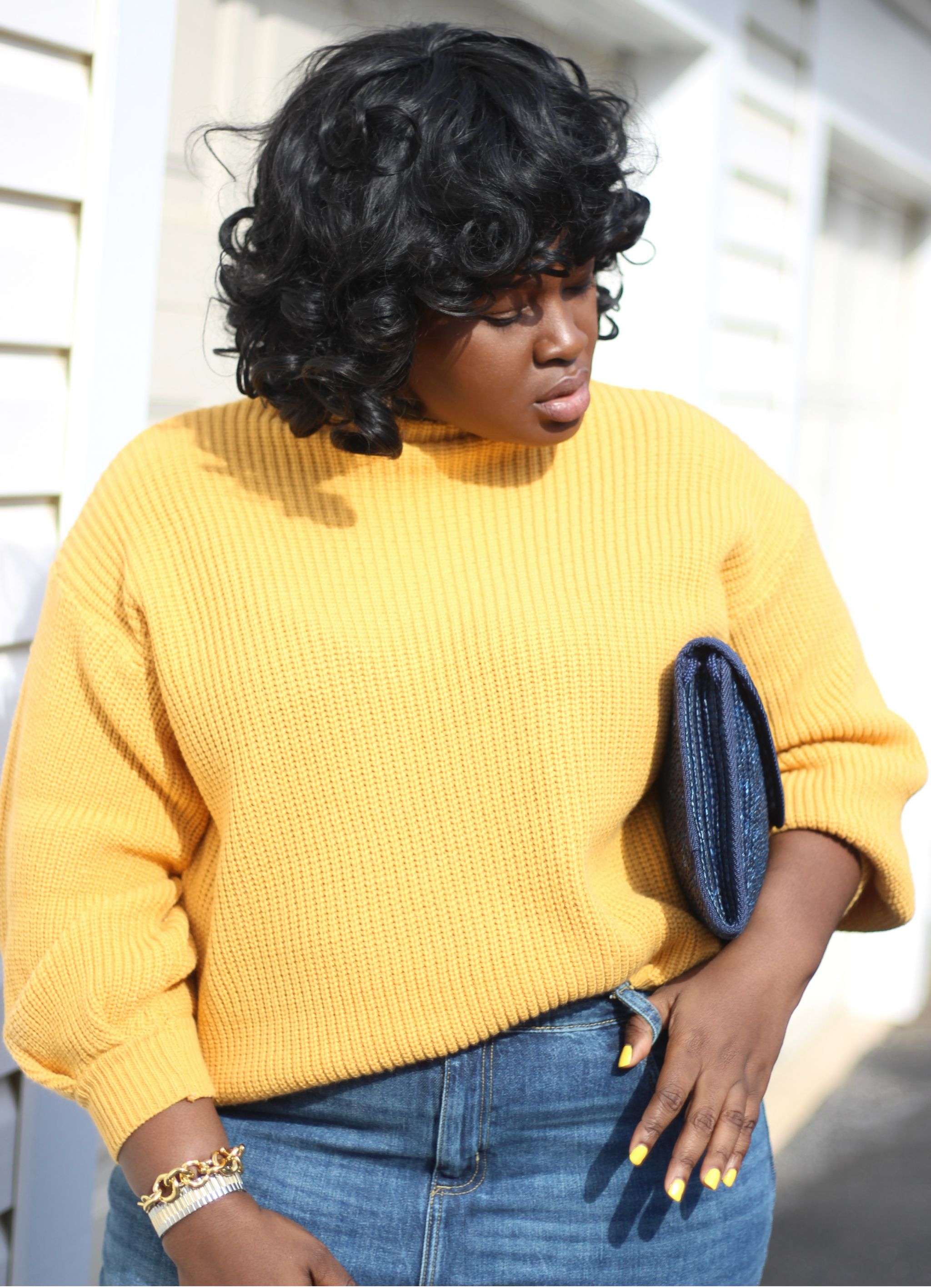 cold spring day outfit ft yellow zaful sweater plus