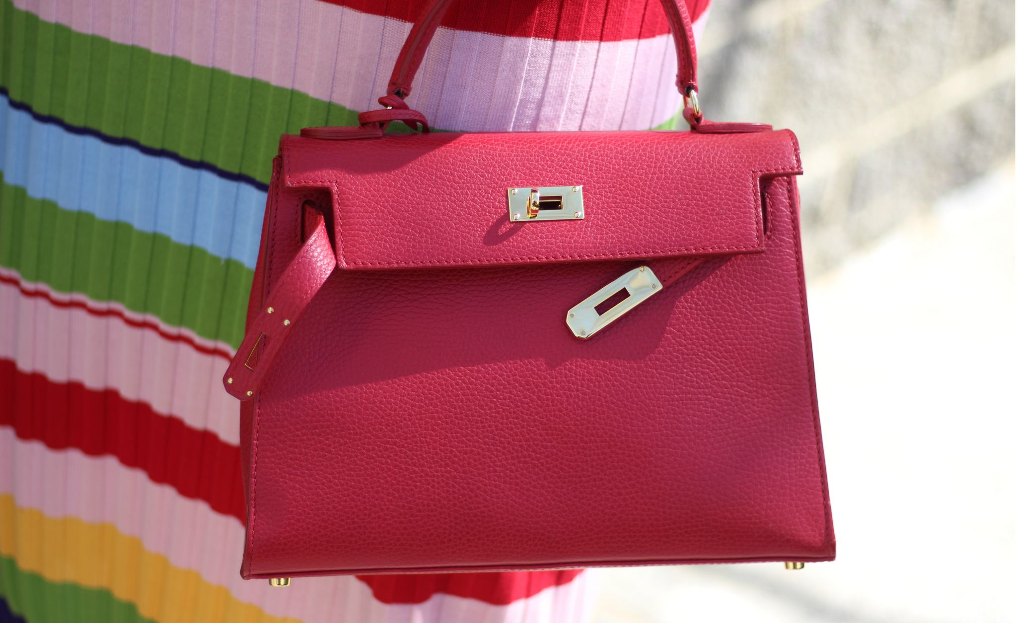 teddy blake Eva Hermes kelley bag dupe