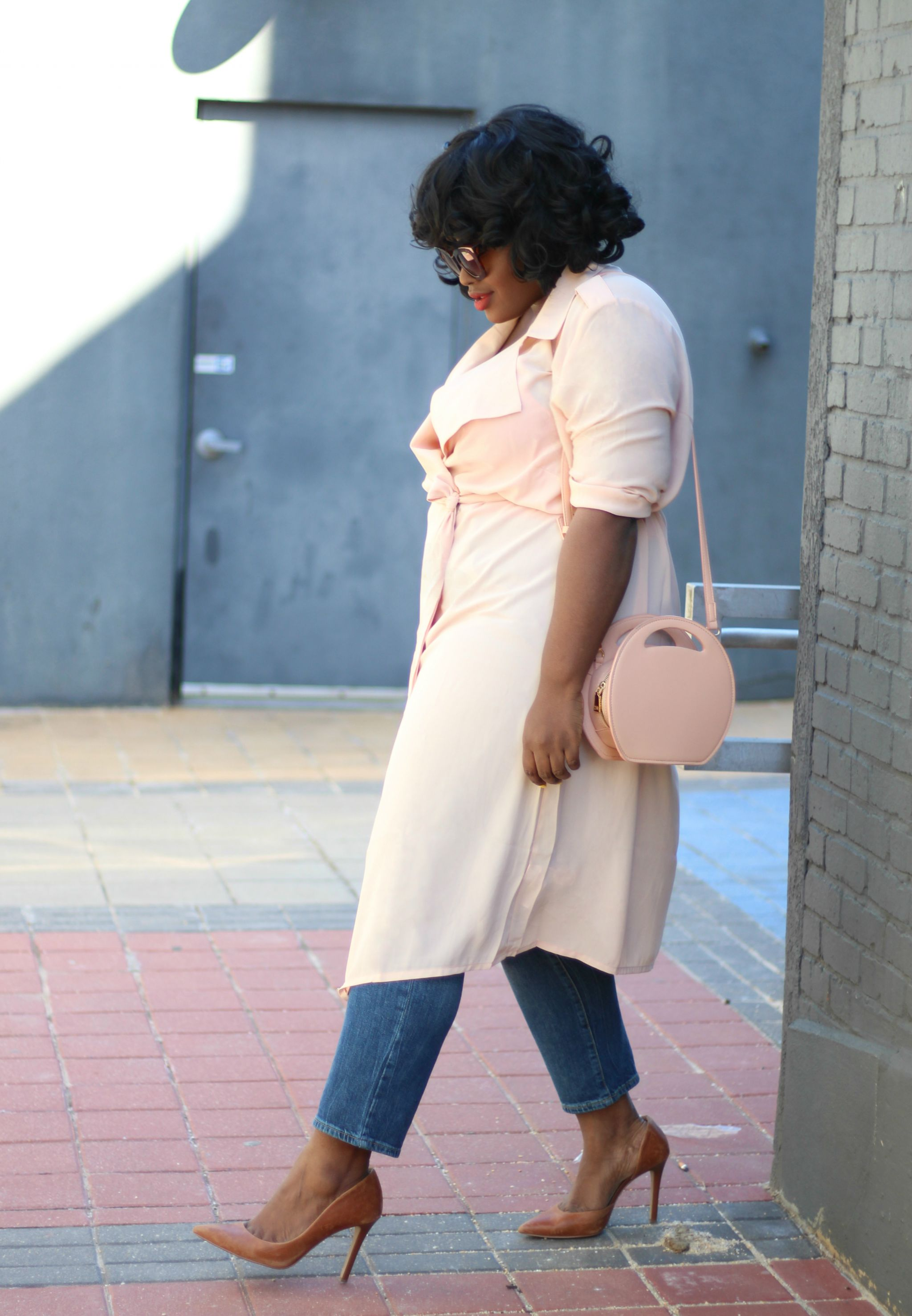 _chiffon trench coat outfit