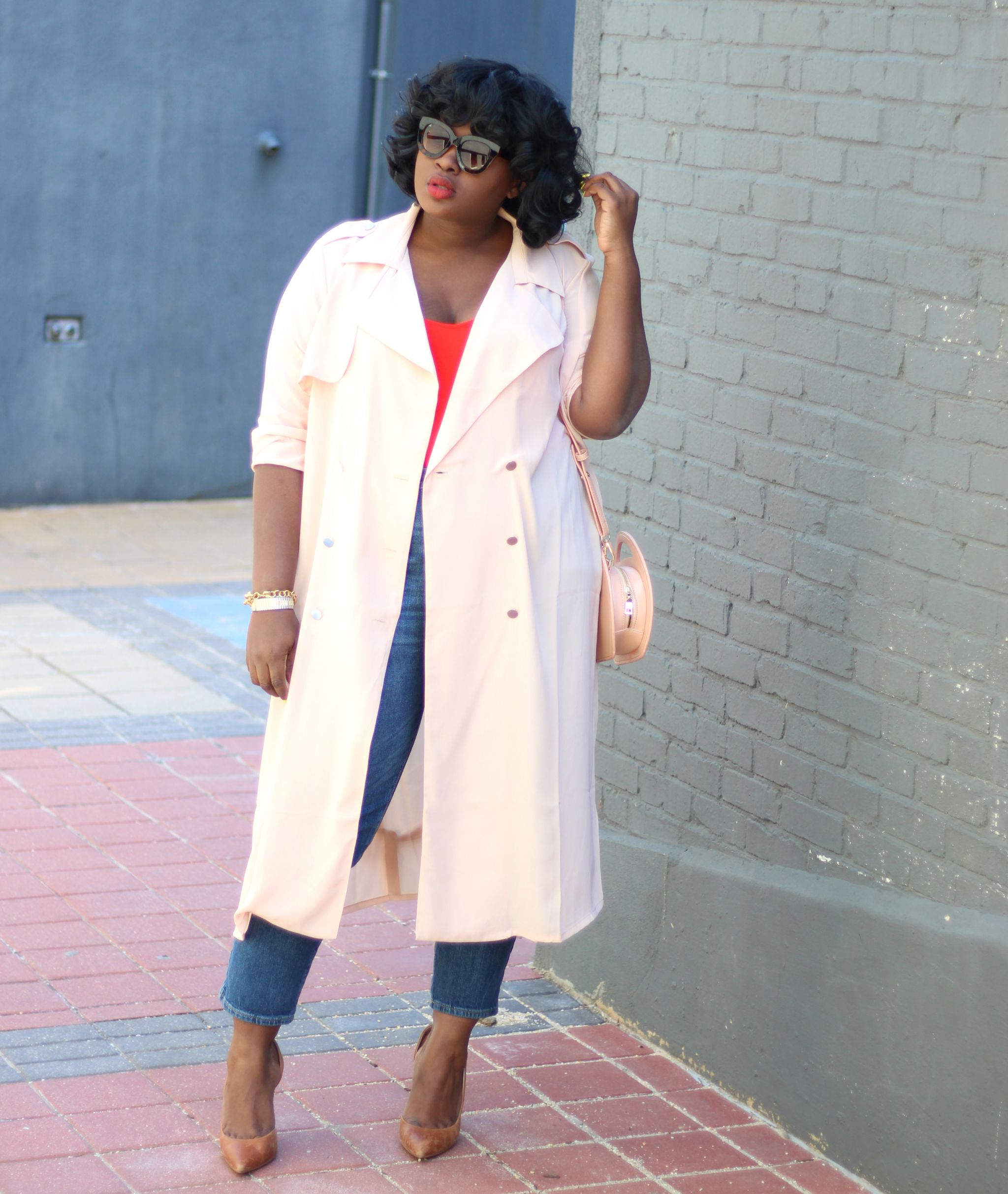 top 5 spring staples forever 21 plus chiffon trench coat outfit