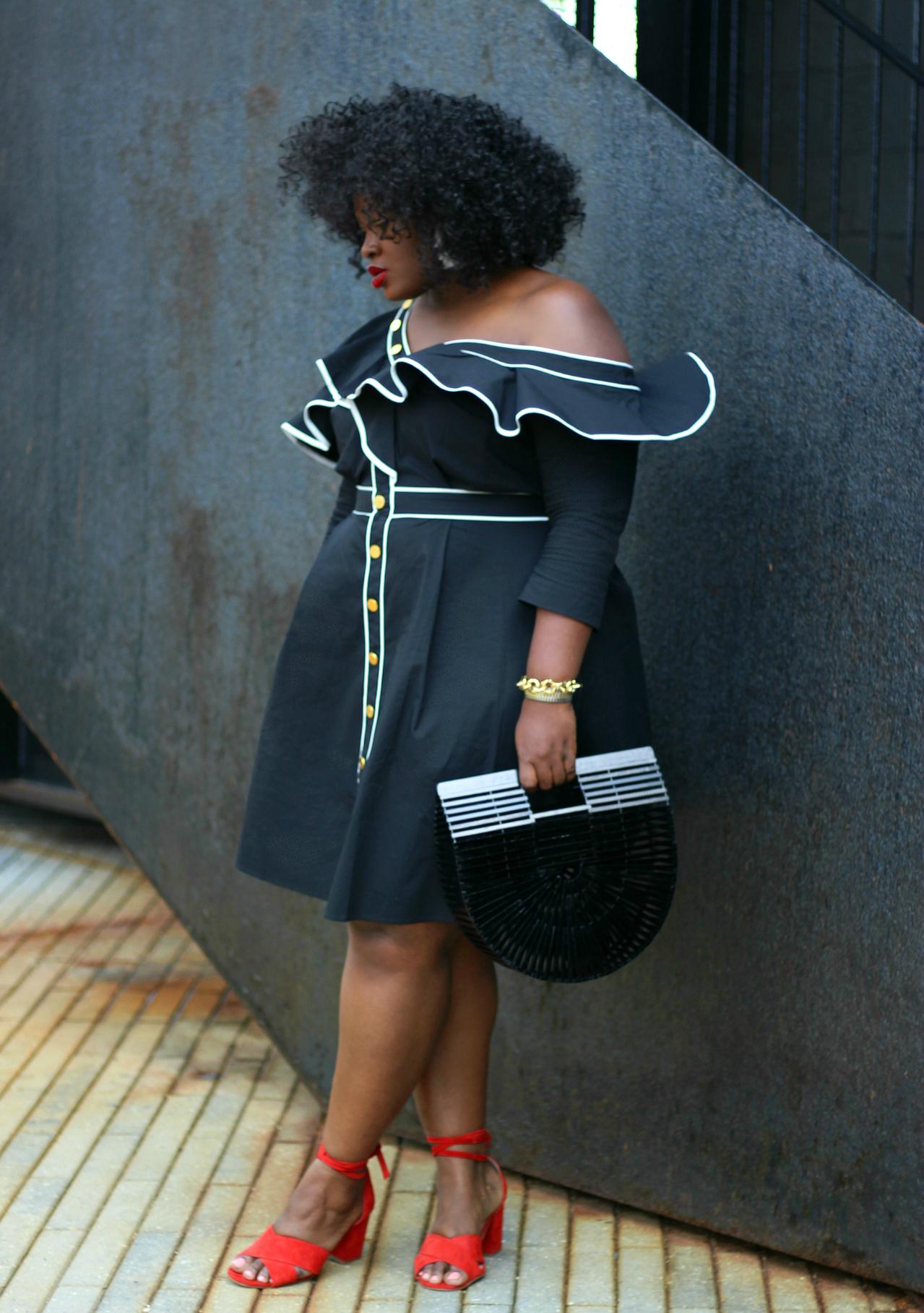 self portrait dupe Asymmetric Dress outfit