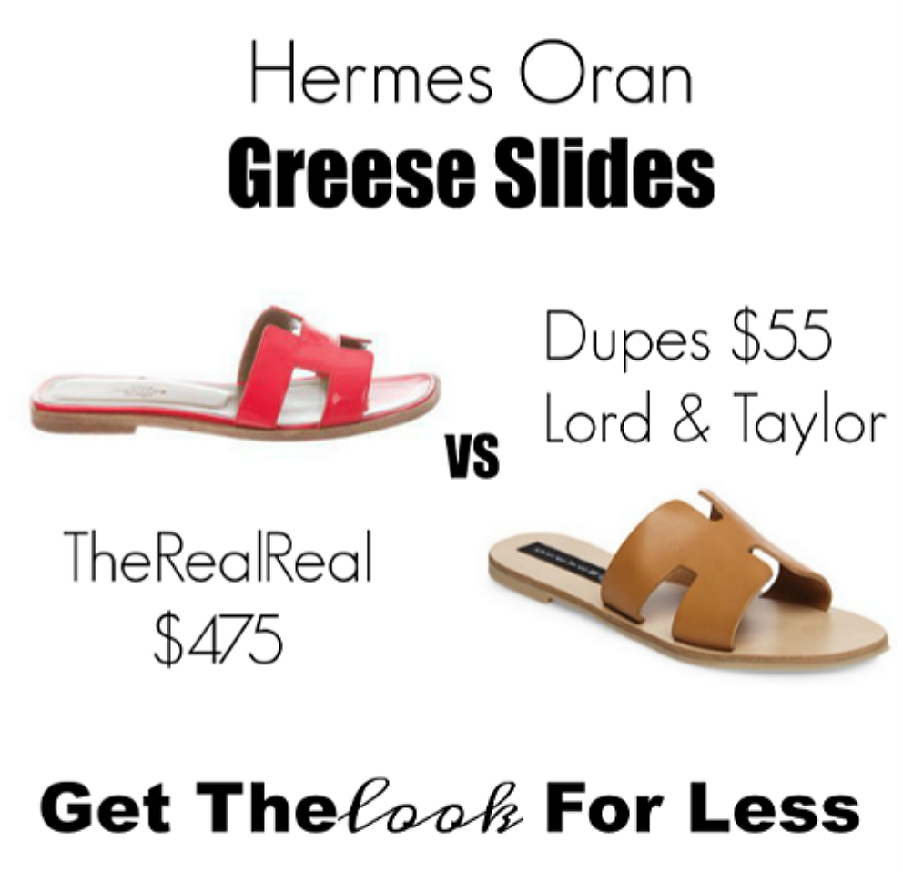 hermes oran slides look for less