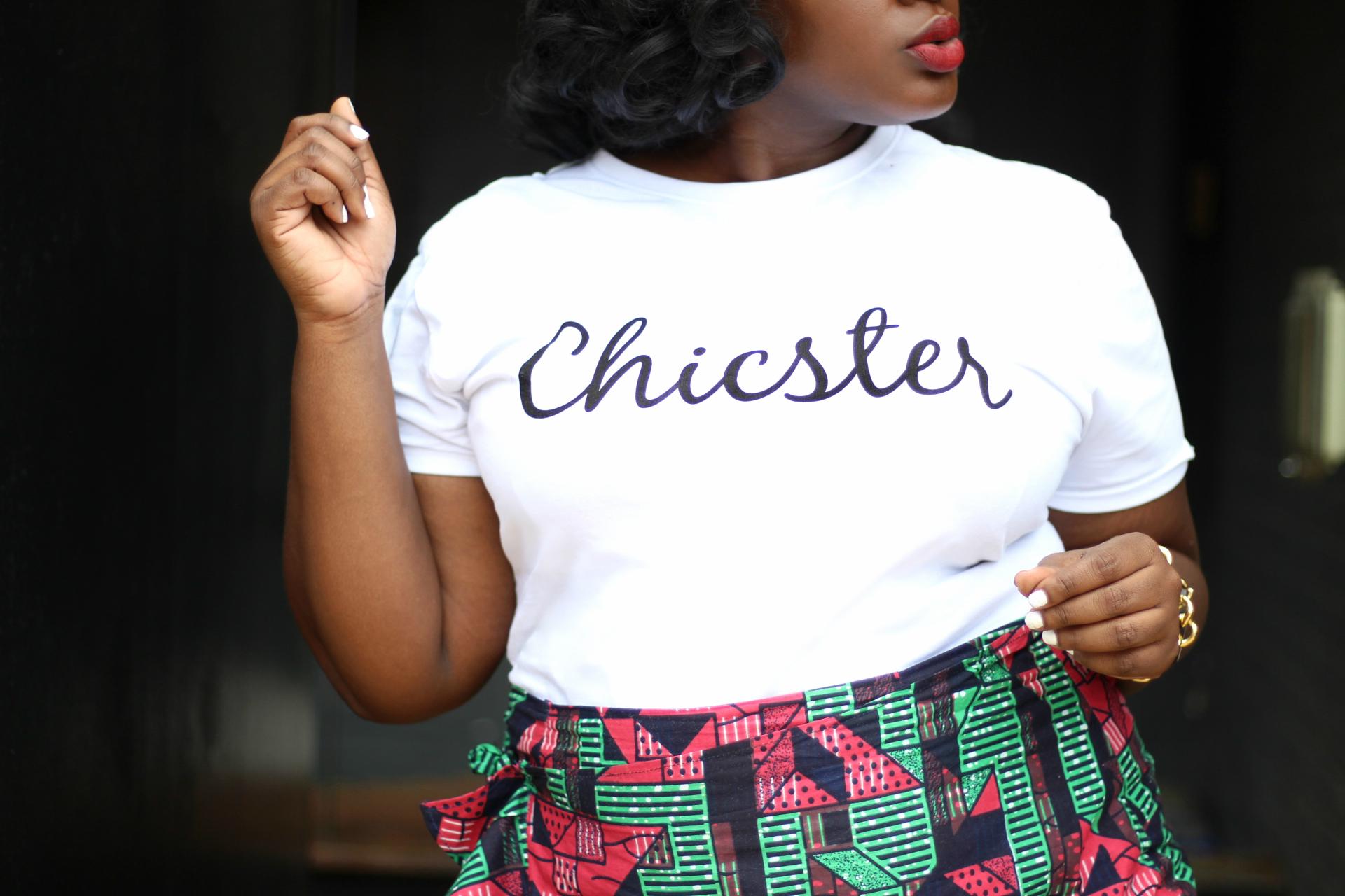 Chicster tee & ankara skirt III
