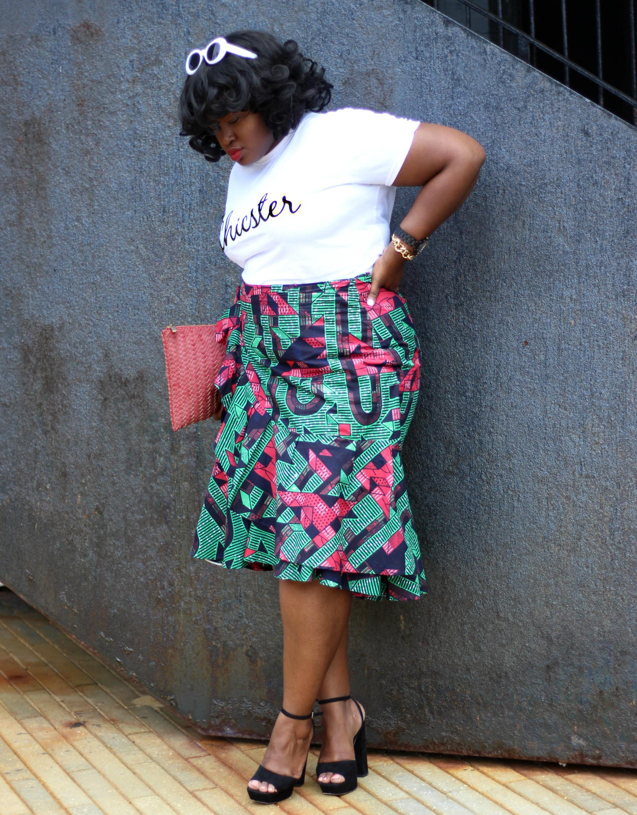 ruffle skirt chicster tee outfit