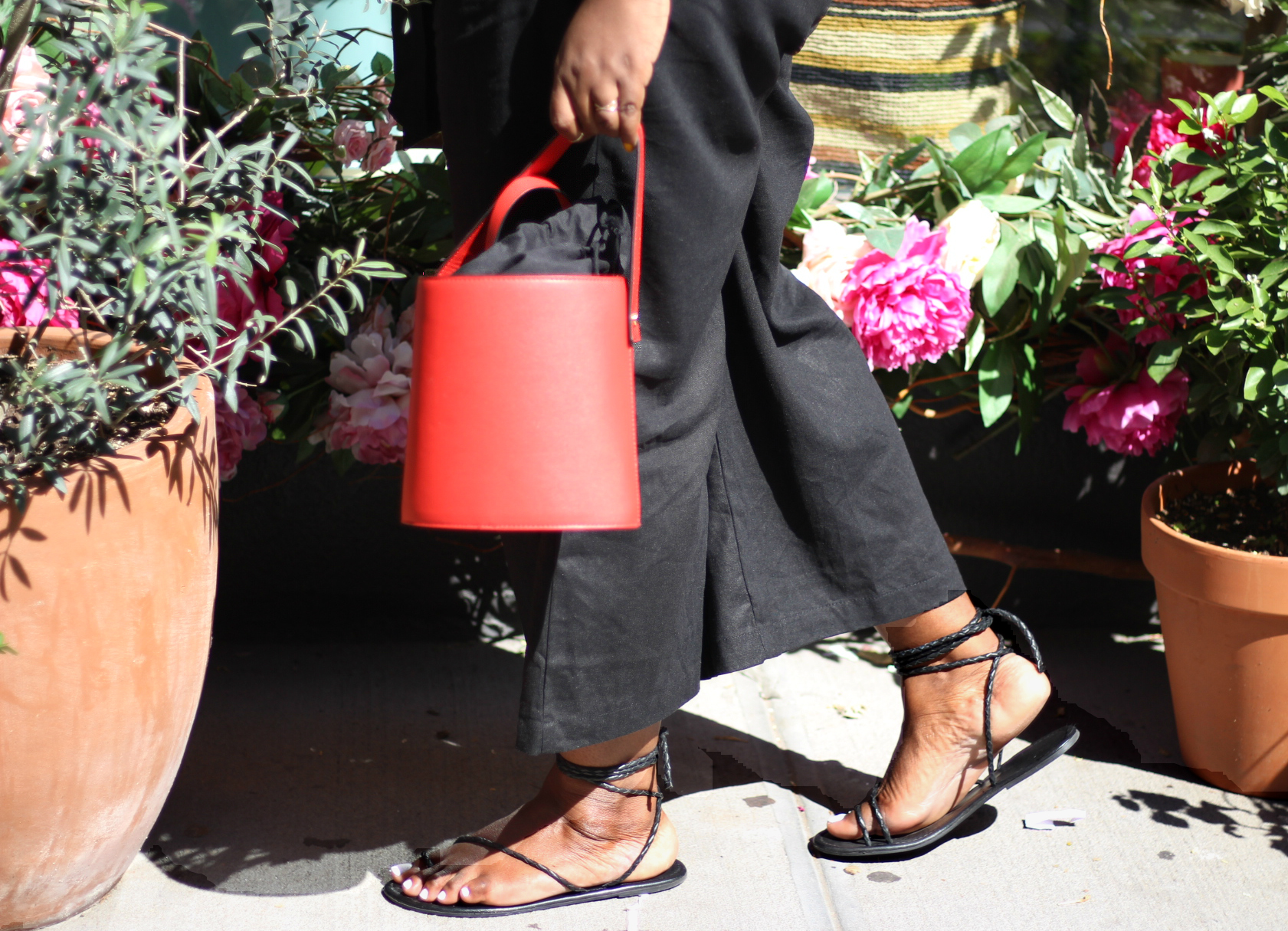 Paperbag Pants Who What Wear wrap sandals