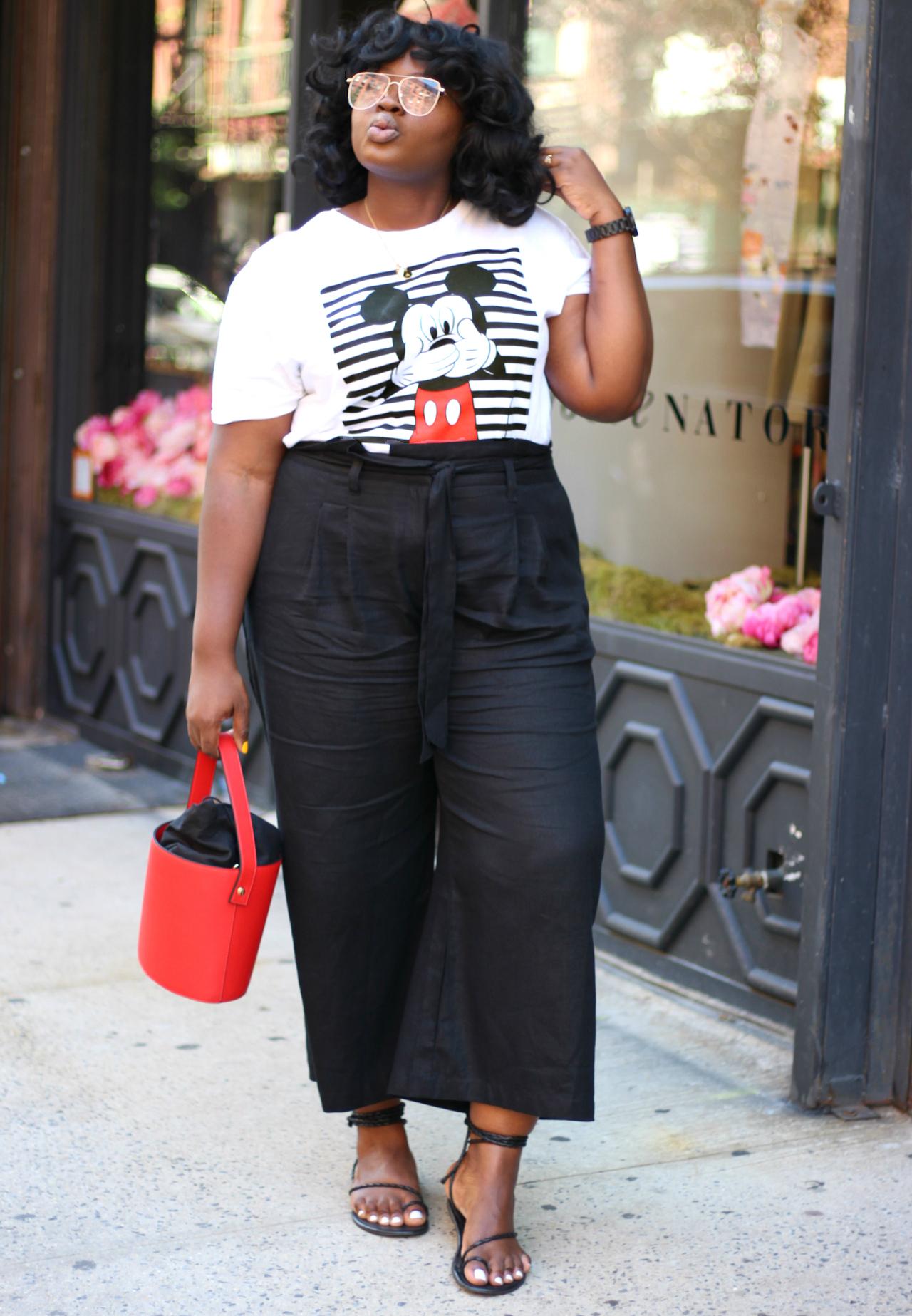 Plus Wide Leg Paperbag Pants target outfit