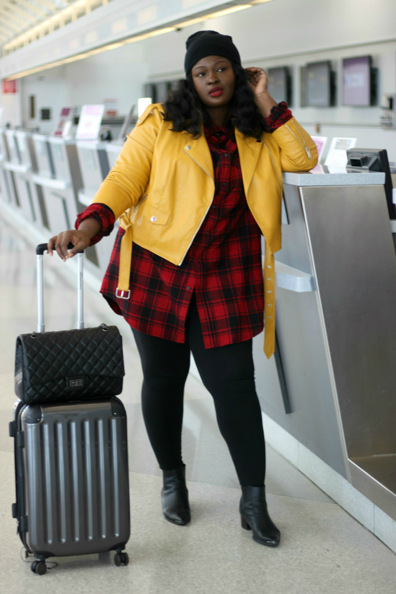 walmart plaid TRAVEL outfit
