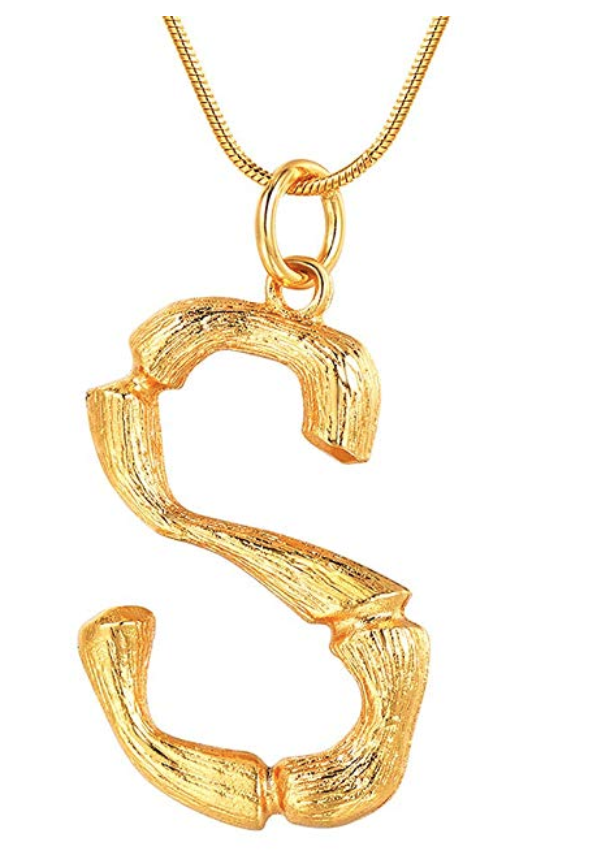 get the look for less Celine alphabet necklace dupe