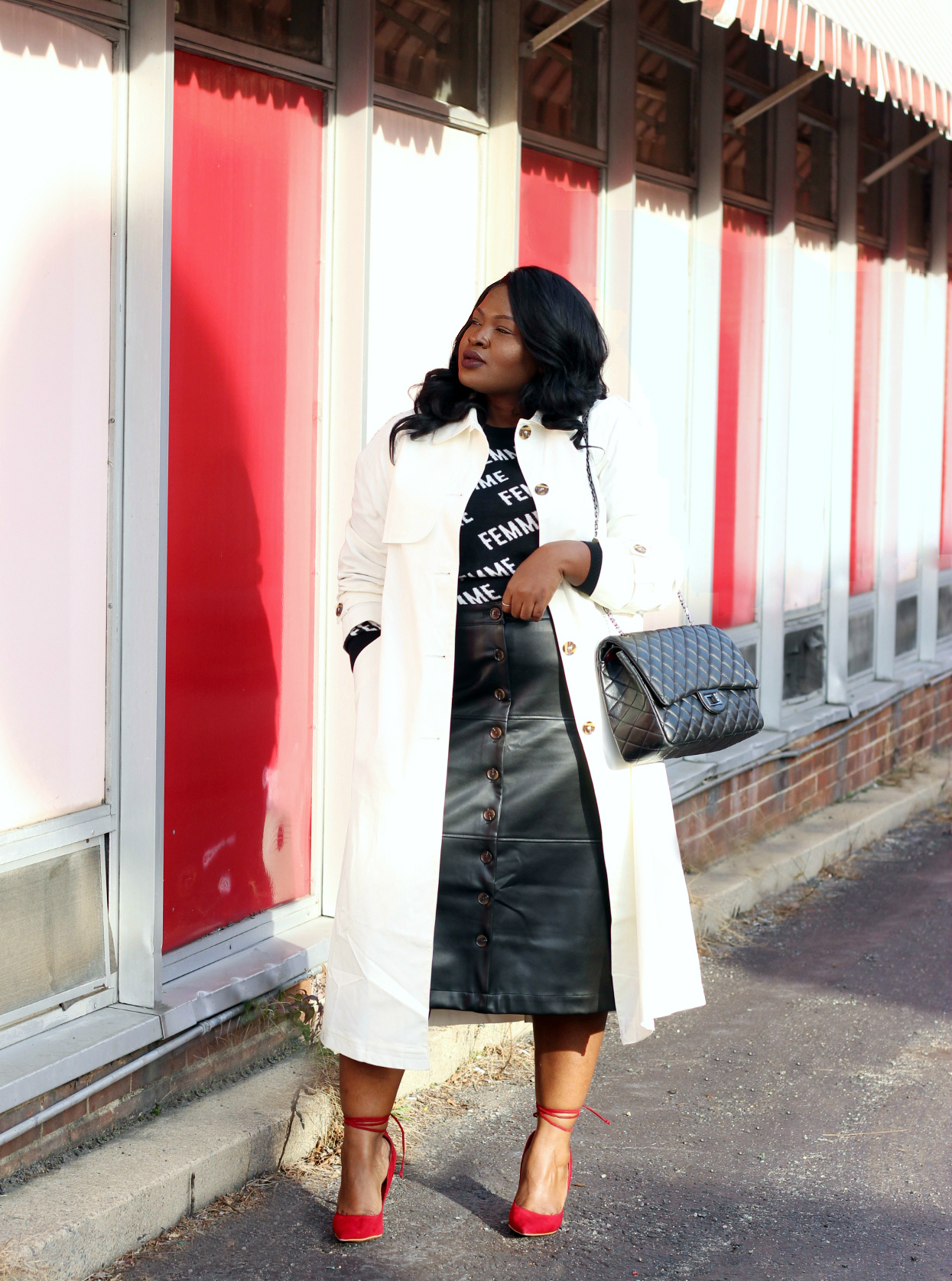 The Perfect Leather Skirt + Being Intentional In 2019