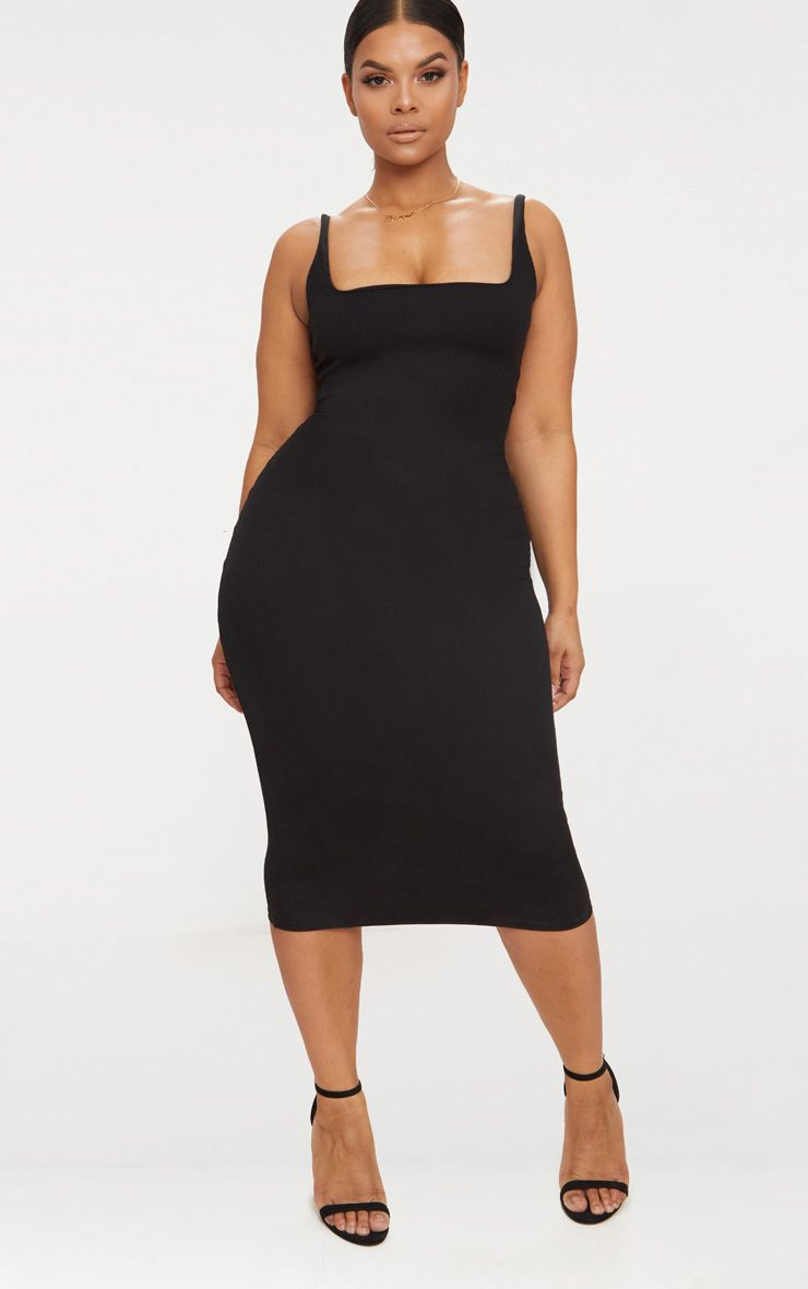 Tori-Ruffle-Bodycon-Dress best dressed wedding guest plus size picks black dress PLT