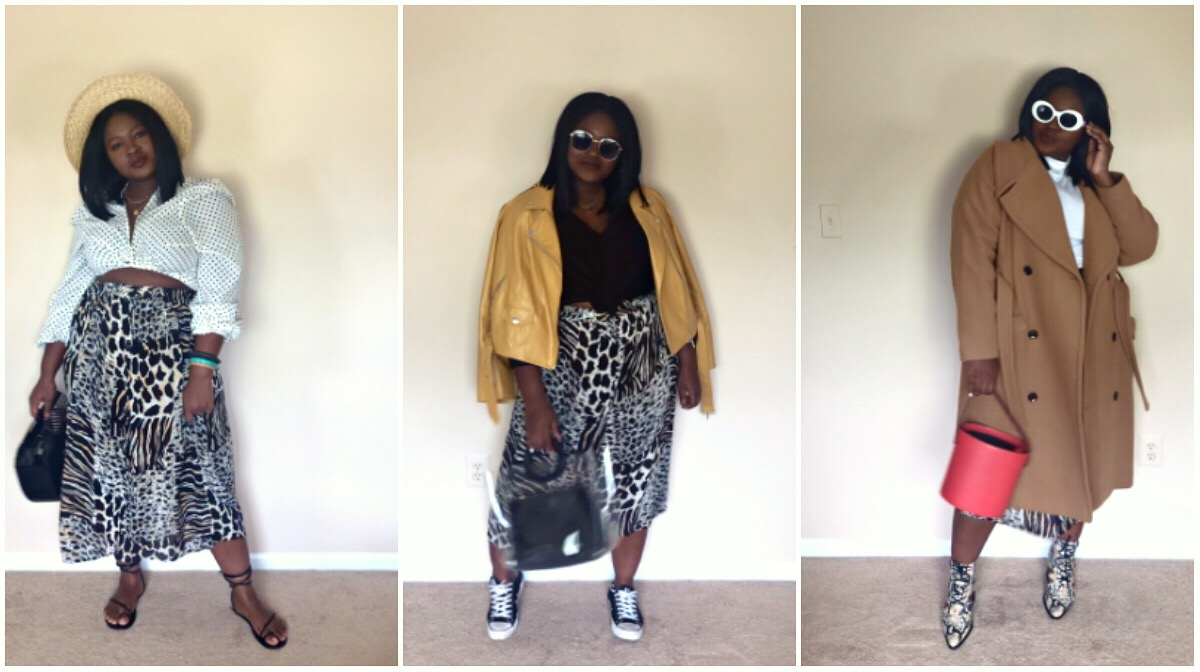 3 Ways to Style a leopard Skirt