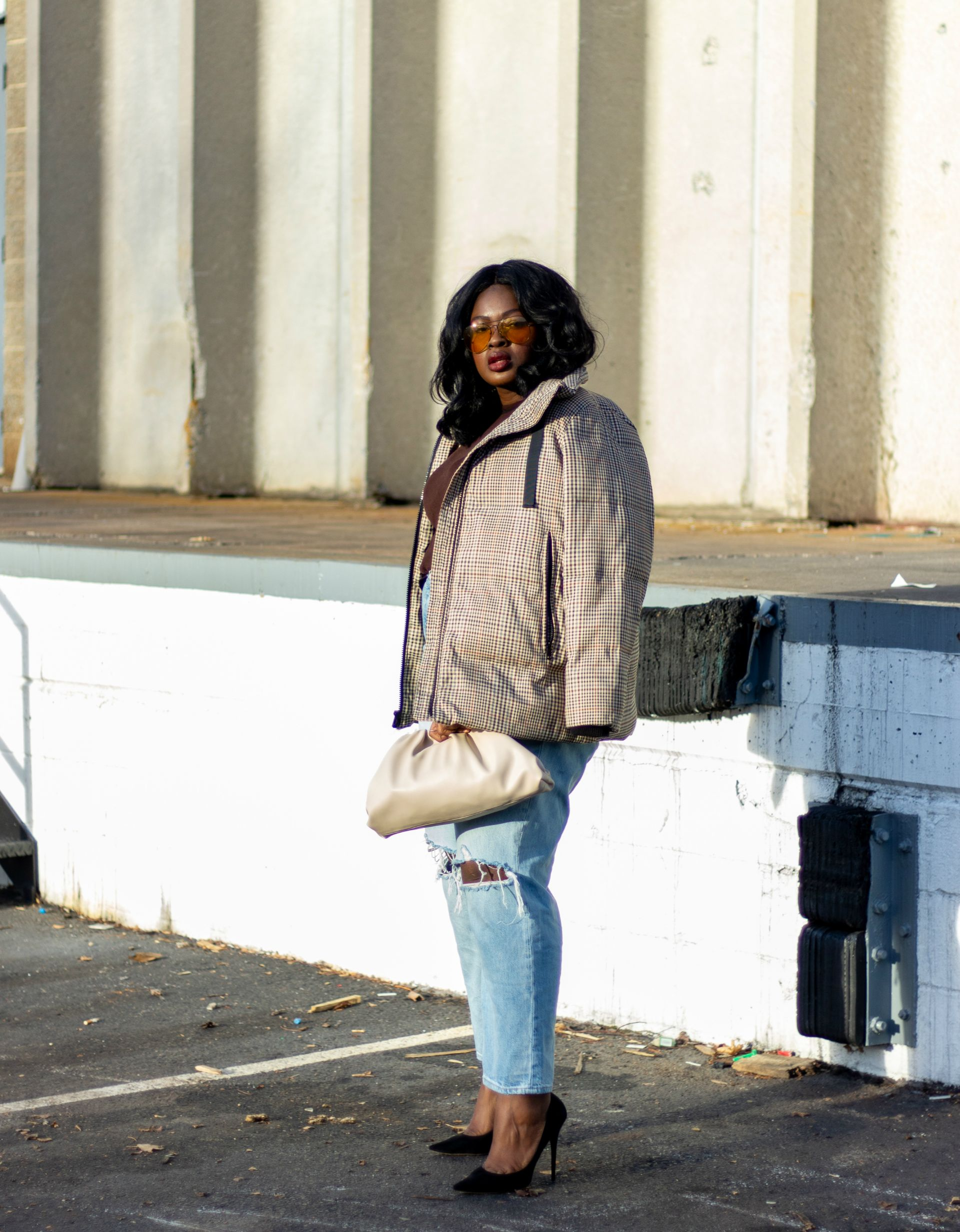 straight leg jean and puffer coat outfit - Ultimate After christmas Sale Roundup 2019 from supplechic a fashion and lifestyle blog based in baltimore