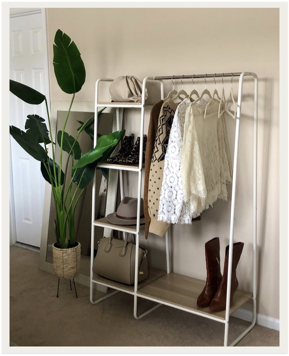 iris clothing rack from amazon styled by chichi from supplechic a fashion and lifestyle blog based in baltimore