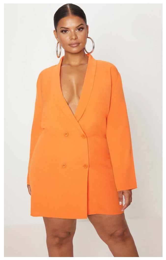 spring pick orange blazer dress from supplechic a fashion and life style blog based out of baltimore