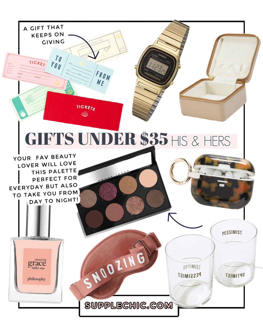 GIFTS UNDER 35 from supplechic a fashion and lifestyle blog based in baltimore